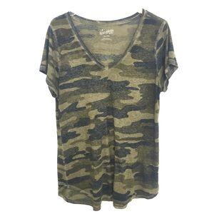 Lucky Brand Tops - Lucky Brand Camo V-Neck T-Shirt XL